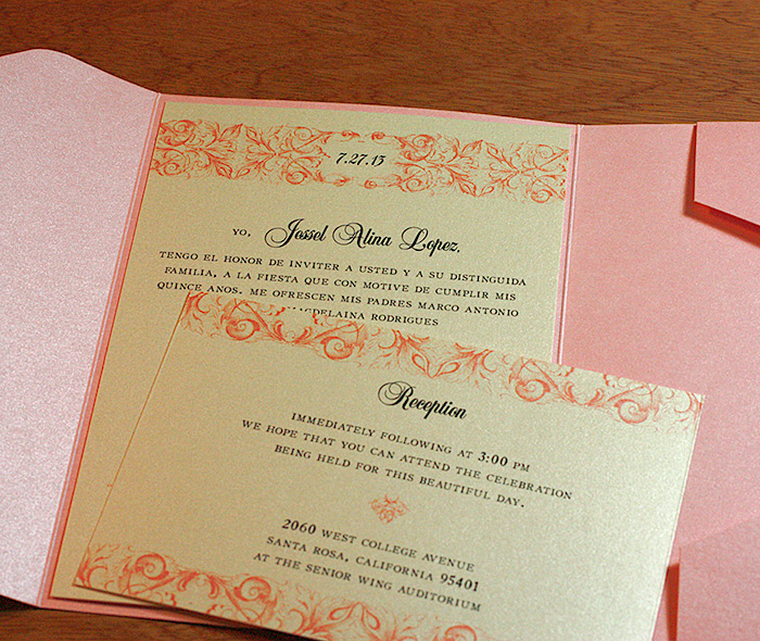 Quinceanera letterpress invitation designs invitations by ajalon romantic invitation for quinceanera stopboris Choice Image