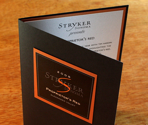 stryker sonoma proprietor's red dinner invitation