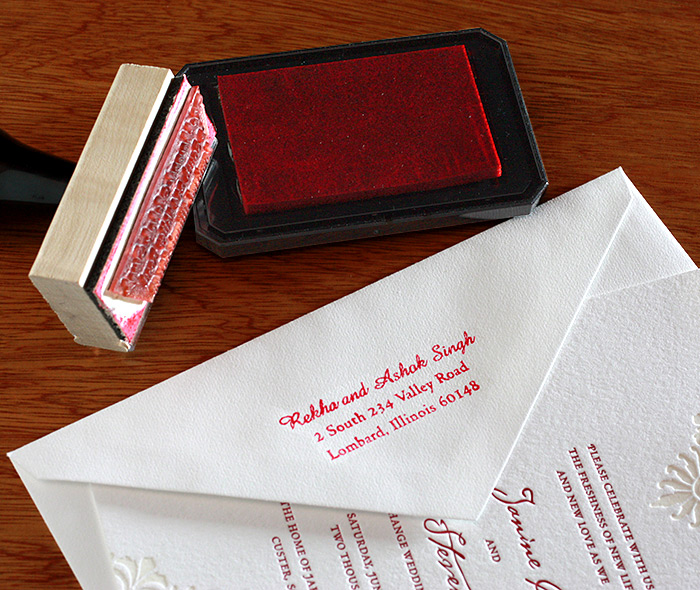 Addressed Wedding Invitations: Custom Rubber Stamps For Wedding Invitations