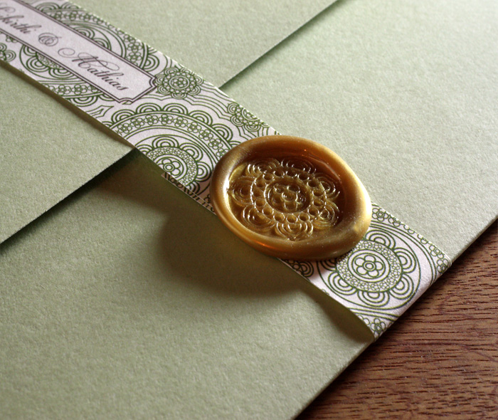 Custom Adhesive Wax Seals for Wedding Invitation Sets Invitations