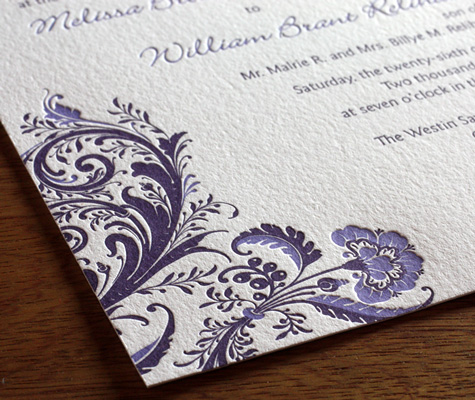 Adding different colors to your bridal wedding invitation can have wonderful