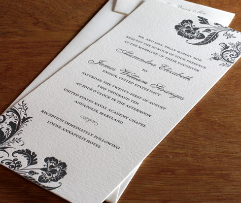 When picking out the perfect wedding invitation don 39t forget to think about