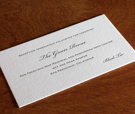 Wedding Reception Only Wording Wording Your Letterpress Wedding