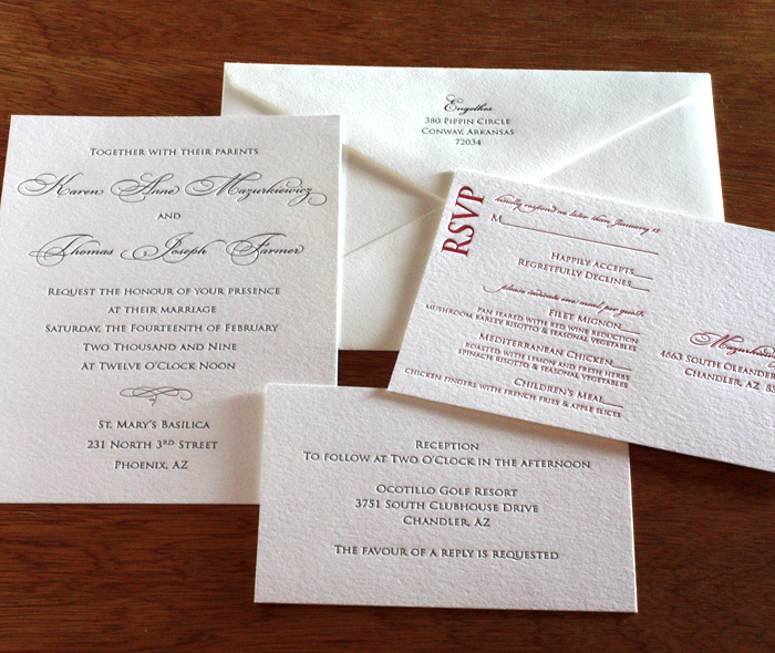 Destination Wedding Quotes For Invitations: Affordable Letterpress Wedding Invitation Design