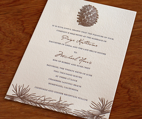 ... include your parents' names within your wedding invitation wording
