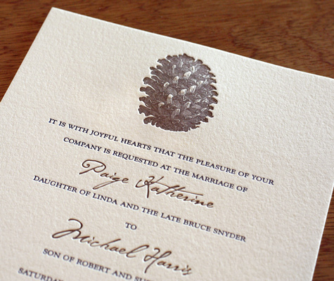 Aspen wedding invitation wording
