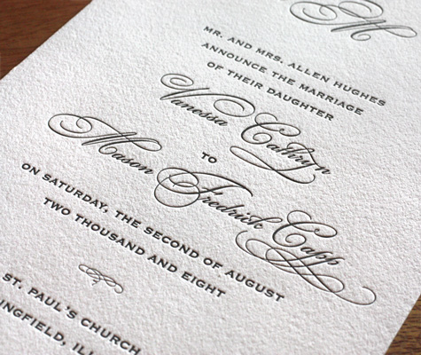 Wedding Invitation Etiquette: Wording<br />  Including Parents' Names in the Invitation Photo