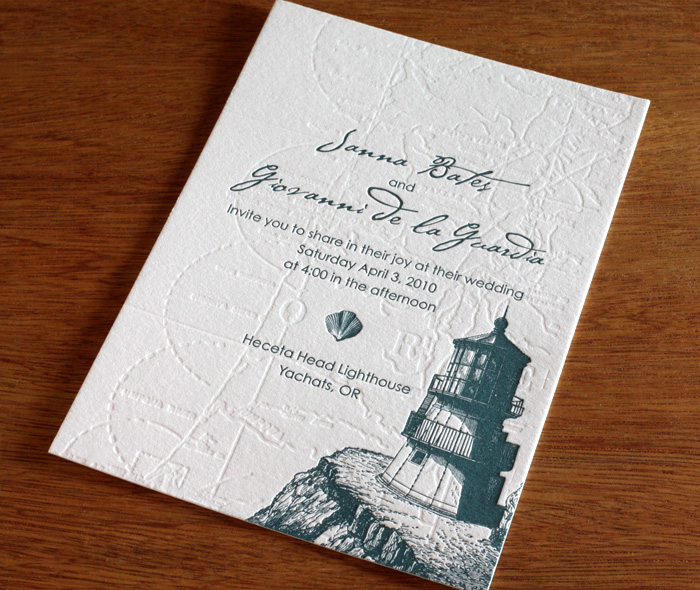 Lighthouse Wedding Invitation Gallery Cape Cod