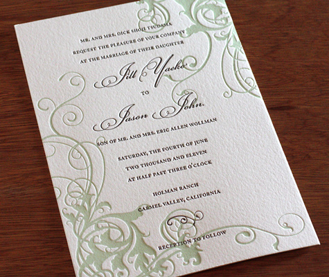 Vineyard Inspired Wedding Invitation Designs Photo