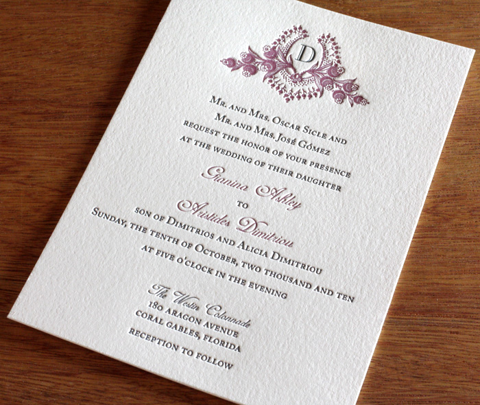 Custom Monogram Wedding Invitation Gallery Cathryn – Wedding Invitation Monograms