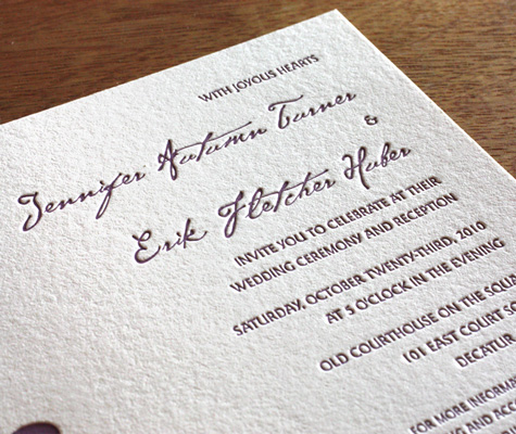 Cezanne Monogram Letterpress Wedding Invitation Wording
