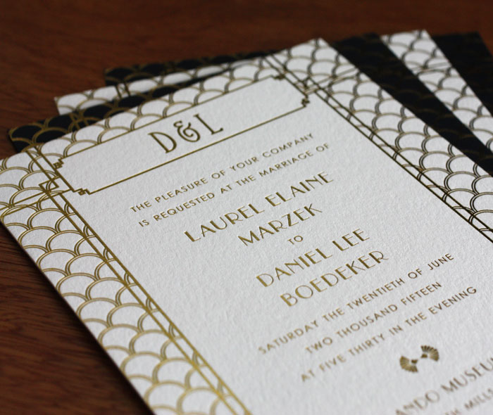 ... Foil Printed Wedding Invitations Chicago ...