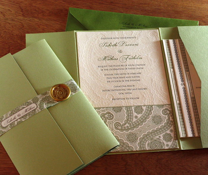 Event Invitation With Pocket Belly Band Wax Seal