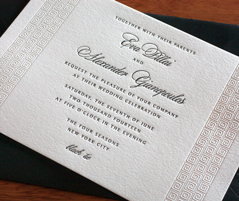blind impression wedding invitation design