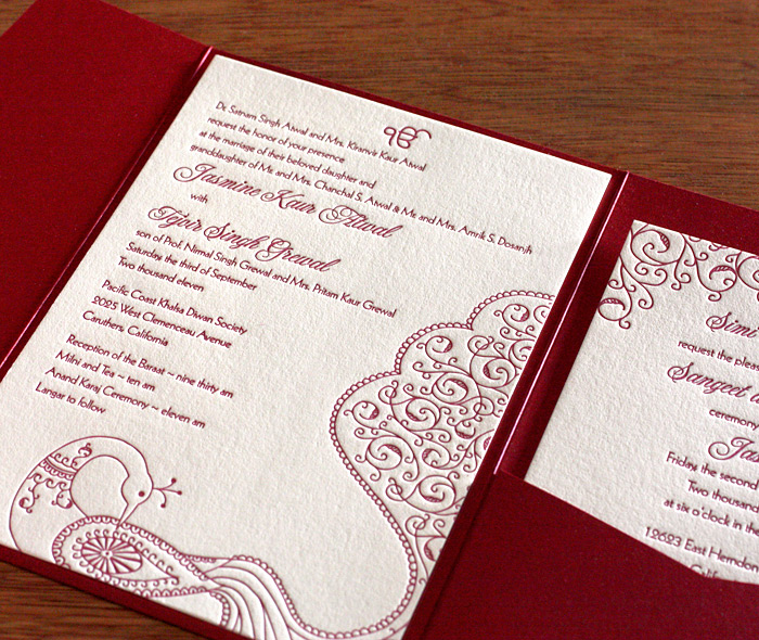 Sikh wedding invitation wording letterpress wedding invitation blog south asian indian peacock wedding sangeet stopboris