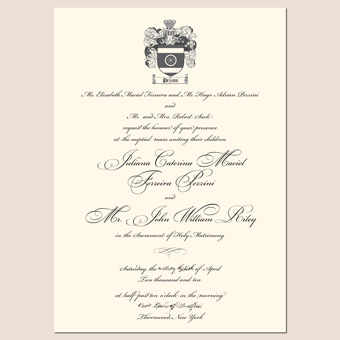 New Letterpress Wedding Invitation Designs An Invite Fit for a Royal