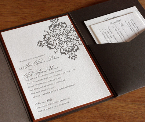 Some brides are taking their fall wedding invitation trends to the next