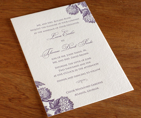 in your wedding invitation letterpress wedding invitation blog