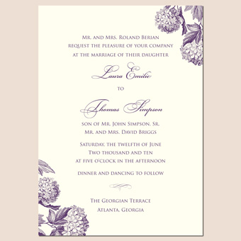 New Floral Wedding Invitation Design <br/ > Just in Time for Summer Brides Photo