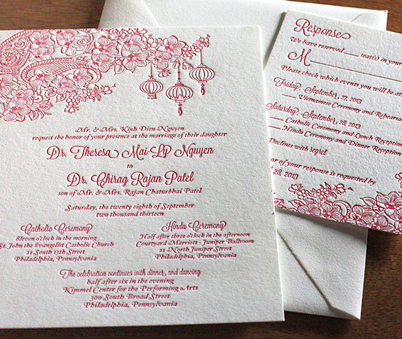 Mai – New Wedding Invitation Design | letterpress wedding invitation blog