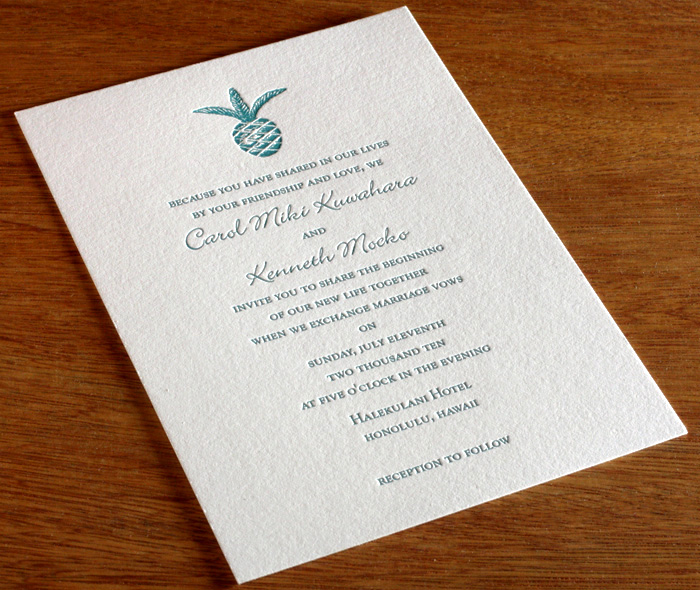 Island, Beach Wedding Invitation Gallery - Malulani ...