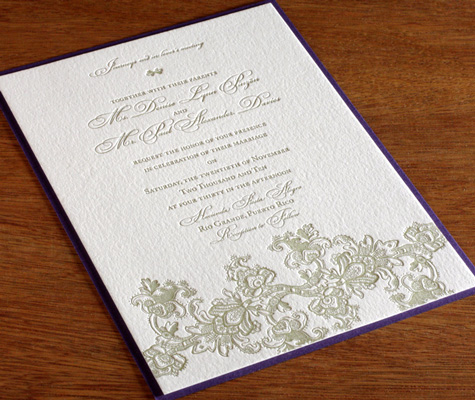 The letterpress printed details truly stand out in a crowd Vintage