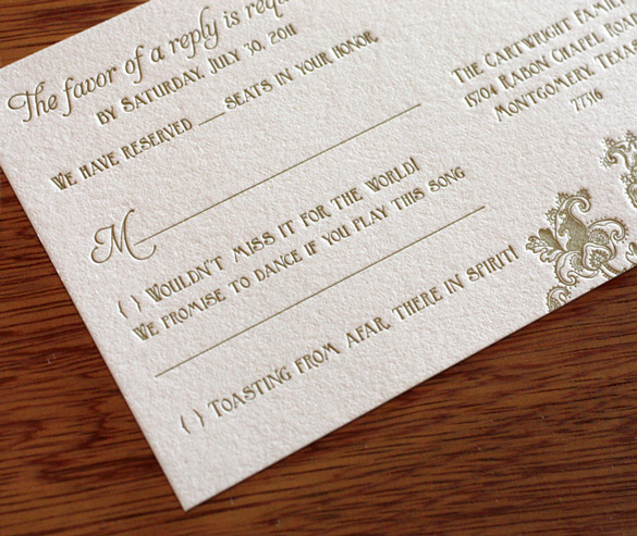 Wording Your RSVP Cards The Accept Or