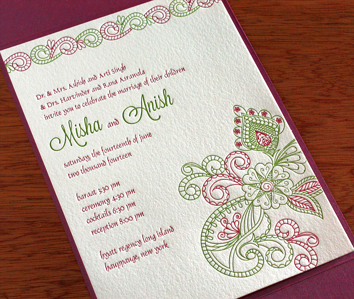 Indian Wedding Invitation Design Gallery Misha