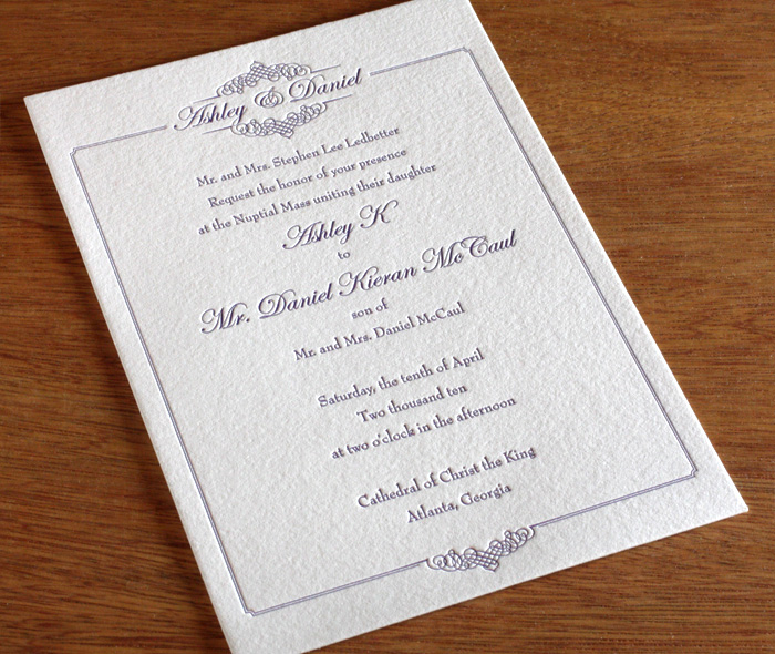formal wedding invitation design gallery