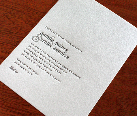 making sure your guests focus on that awesome typography Modern