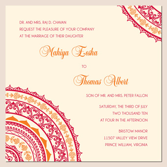 3 New Indian Wedding Invitation Card Designs Summer Invite with