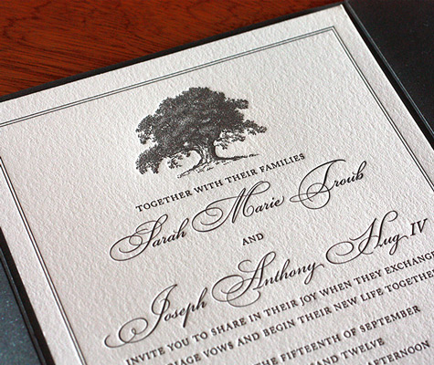 The Perfect Fall Wedding Invitation Design Photo