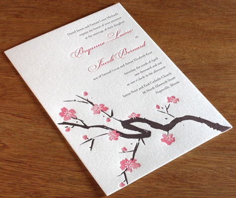 sakura 01 Make your own wedding invitations