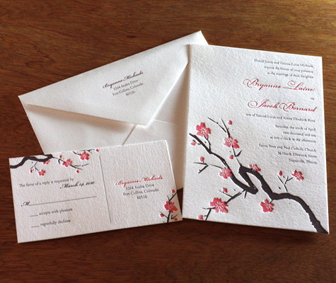 Japanese Cherry Blossom Wedding Invitation Invitations by Ajalon 39s