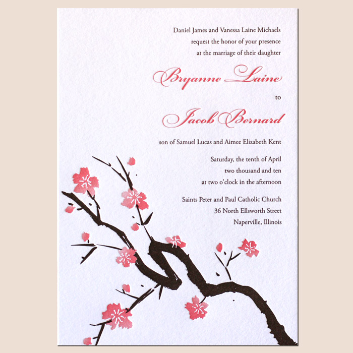 Letterpress Wedding Invitation Themes Destination Indian And Floral