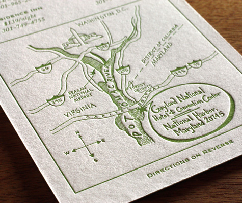 Lead The Way To Your Wedding With Maps Letterpress Maps And Direction Cards