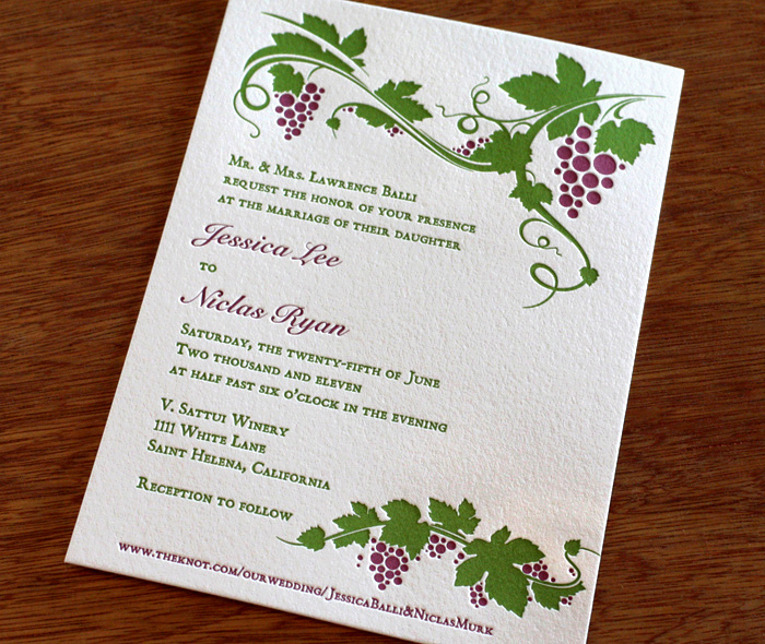 Destination Wine Country Wedding Invitation Gallery St Helena