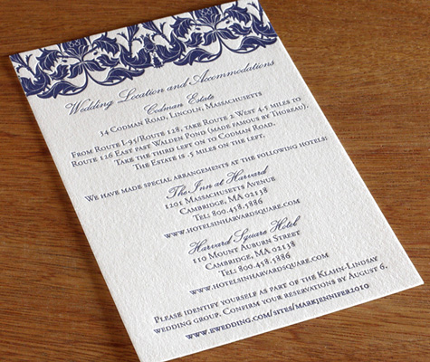 2011 Destination Wedding Invitation Trends Travel And Accommodation Cards