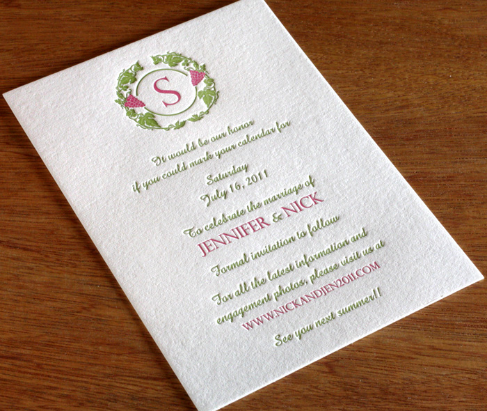 5 invite ideas to match your destination venue letterpress wedding custom monogram in grape wreath on winery wedding invitation stopboris Image collections