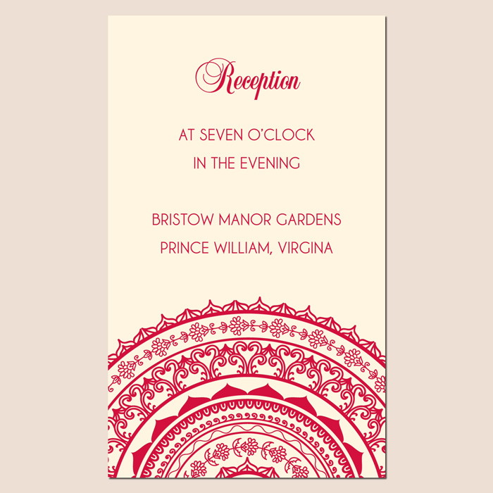 indian wedding reception card matter