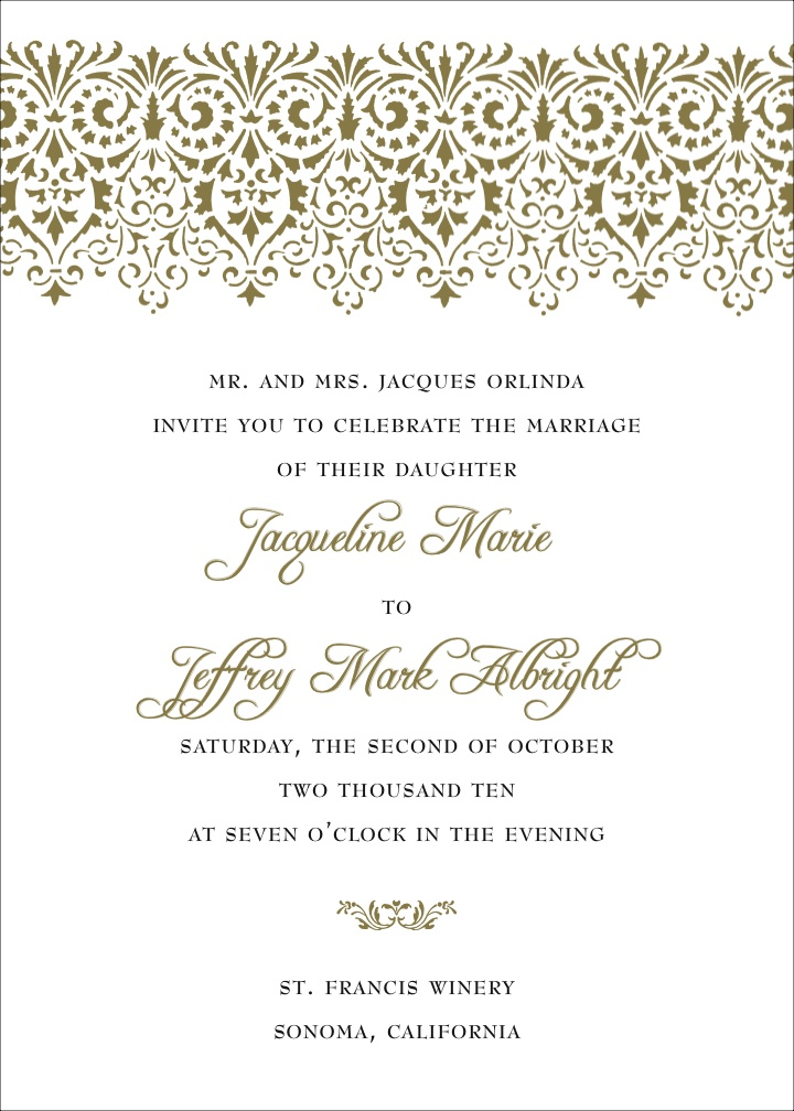 Calligraphy Wedding Invitation Design