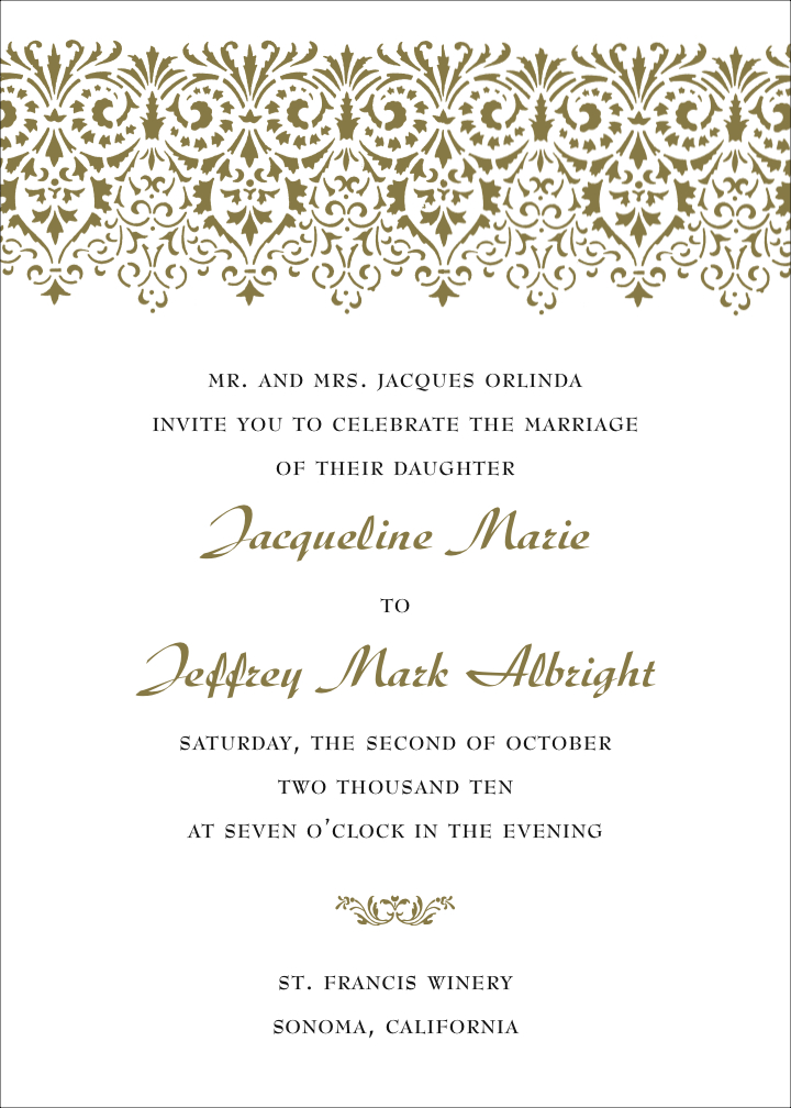Virginia Letterpress Wedding Invitation Design