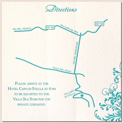 Wedding Invitation Directions Insert with good invitations layout