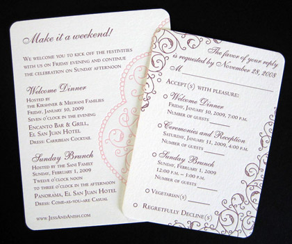 Your wedding planner or an experienced invitation printer can help you