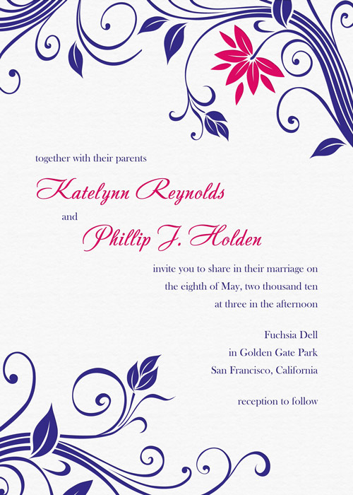 Color Letterpress Wedding Invitation Design