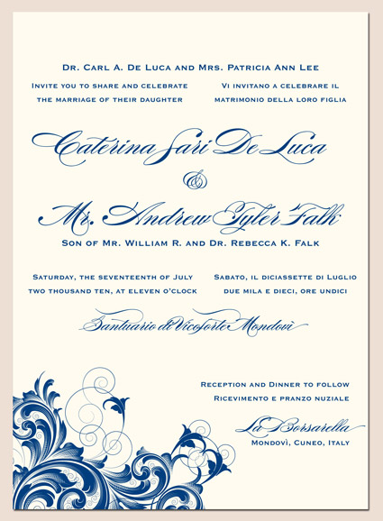 Rana 1 Letterpress Wedding Invitation Design Click here to request free
