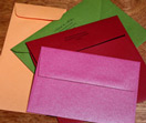 colored envelopes, invitation envelopes, wedding