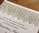 letterpress inks, invitations, wedding invitations