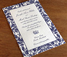 oversize invitations, big invitations, wedding