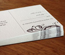 thick paper, double thick, letterpress